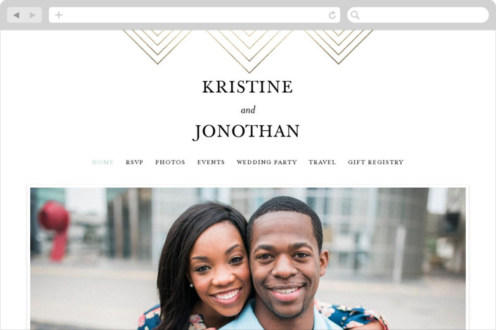 """Striped Love"" - Wedding Websites in Sky by chica design."