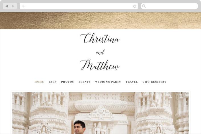 """""""Spruce"""" - Wedding Websites in Cotton by Genna Cowsert."""