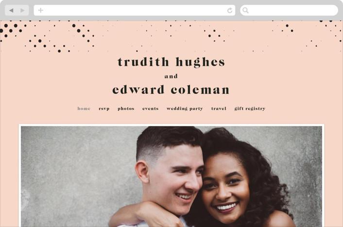 """New York"" - Wedding Websites in Blush by Nazia Hyder."
