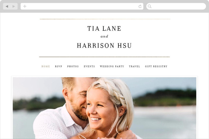 """""""Pencil Thin"""" - Wedding Websites in Ivory by Baumbirdy."""