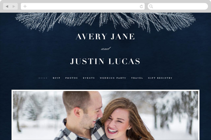 This is a blue wedding website by Creo Study called Frosty chic printing on digital paper.