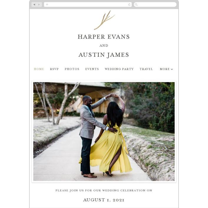 """antler"" - Wedding Websites in Ivory by Robin Ott."