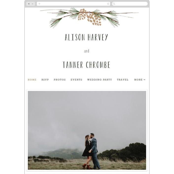 """""""Rustic Wedding"""" - Wedding Websites in Pine by Susan Brown."""