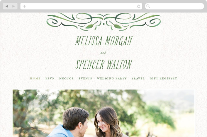 """Growing Ampersand"" - Wedding Websites in Ivory by Laura Bolter Design."