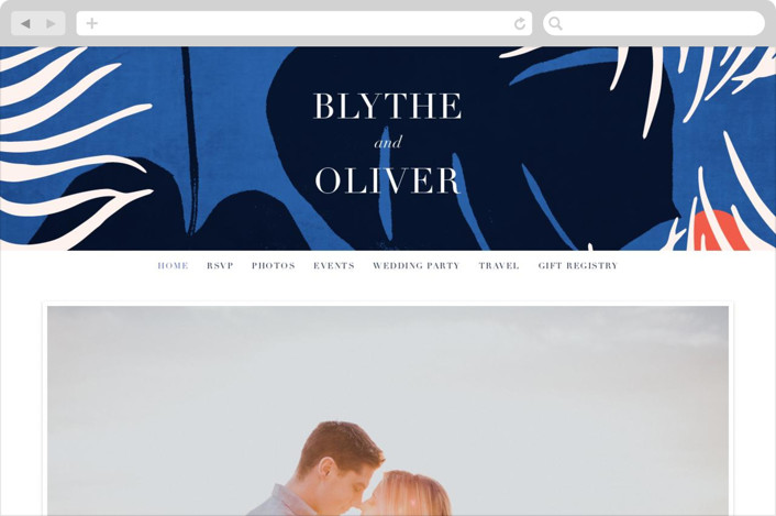 """Acapulco"" - Wedding Websites in Indigo by Angela Marzuki."