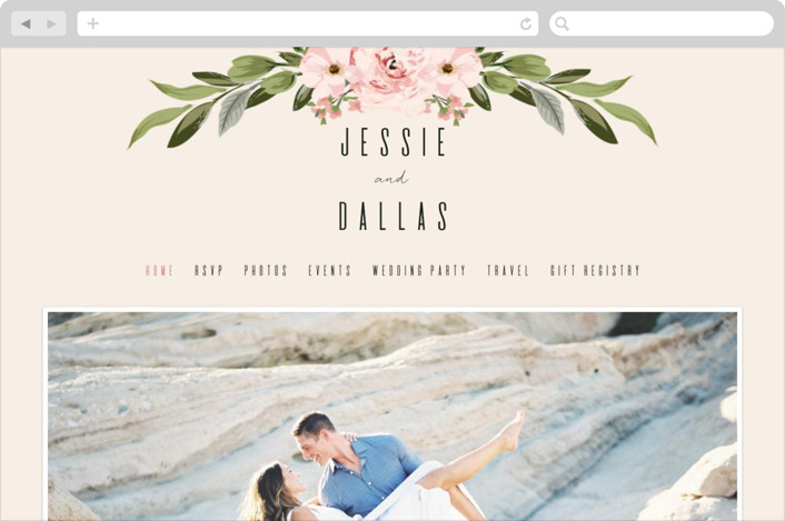This is a colorful wedding website by Susan Moyal called Diamond Blush printing on digital paper.