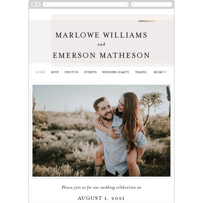 """""""Clean and Modern"""" - Wedding Websites in Champagne by Kelly Schmidt."""