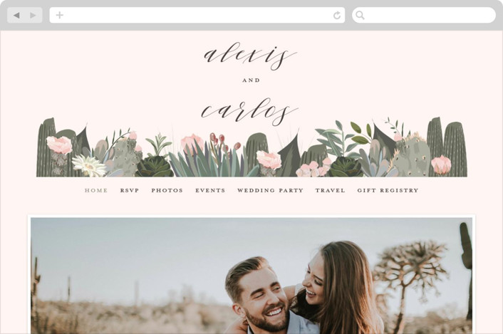 This is a colorful wedding website by Susan Moyal called Sahara printing on digital paper.