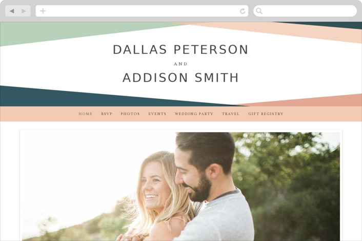 This is a blue wedding website by peony papeterie called Simply Abstract printing on digital paper.