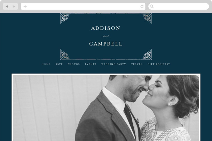 """Victorian Frame"" - Wedding Websites in Marine by Bethan."