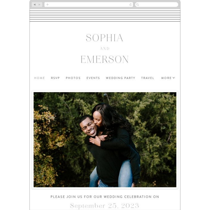 """Classic Lines"" - Wedding Websites in Soft Black by Susan Asbill."