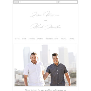 This is a brown wedding website by carly reed walker called Something printing on digital paper.