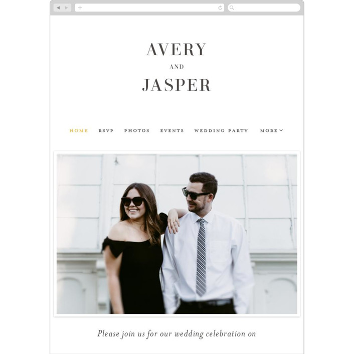 """""""The Space Between"""" - Wedding Websites in Soft Black by Ink and Letter."""