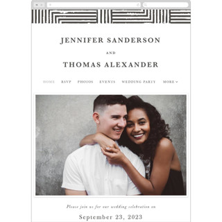 This is a black wedding website by itsjensworld called Elegantly Wasted printing on digital paper.