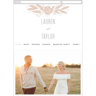This is a brown wedding website by Leah Bisch called Rose printing on digital paper.