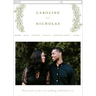 This is a green wedding website by Ashlee Townsend called Muted Verdure printing on digital paper.