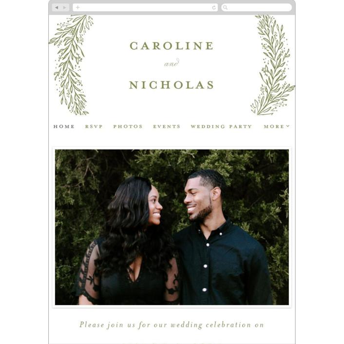 """""""Muted Verdure"""" - Wedding Websites in Pistachio by Ashlee Townsend."""