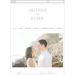 This is a blue wedding website by Stacey Meacham called Refined Tradition printing on digital paper.