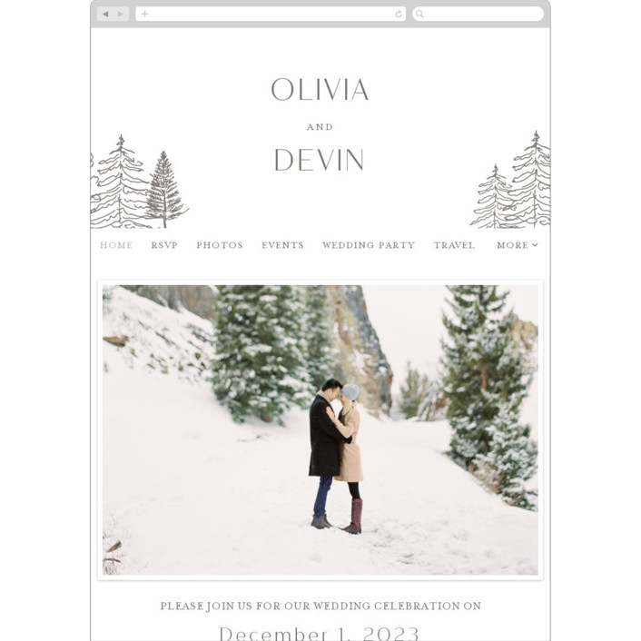 """""""Forest Frame"""" - Rustic Wedding Websites in Graphite by Baumbirdy."""