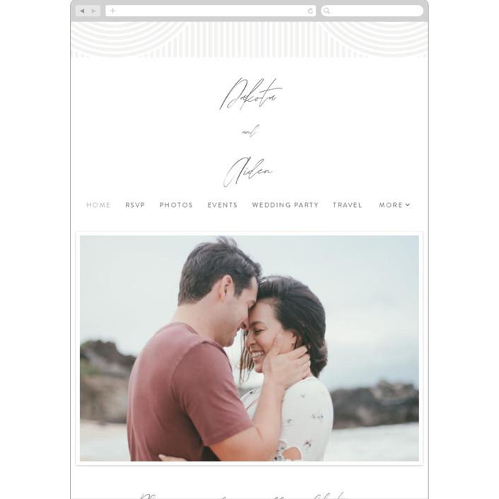"""Art Deco"" - Modern Wedding Websites in Pewter by Shannon Chen."