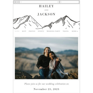This is a black wedding website by Winston Latchman called Etched Mountain printing on digital paper.