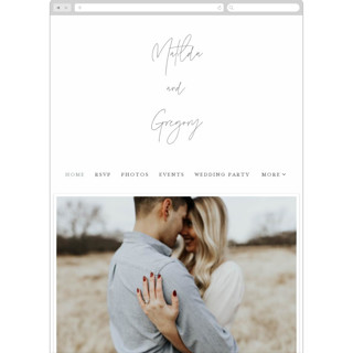 This is a black wedding website by Morgan Kendall called Modern Script printing on digital paper.