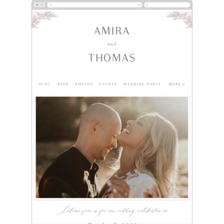 This is a grey wedding website by Jennifer Postorino called Romantic Whisper printing on digital paper.