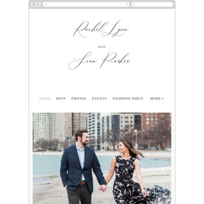"""Modern Romantic"" - Wedding Websites in Soft Black by Vanessa Doyle."
