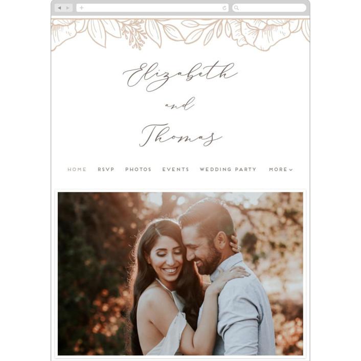 """""""Fresh Flowers"""" - Wedding Websites in Graphite by Genna Blackburn."""