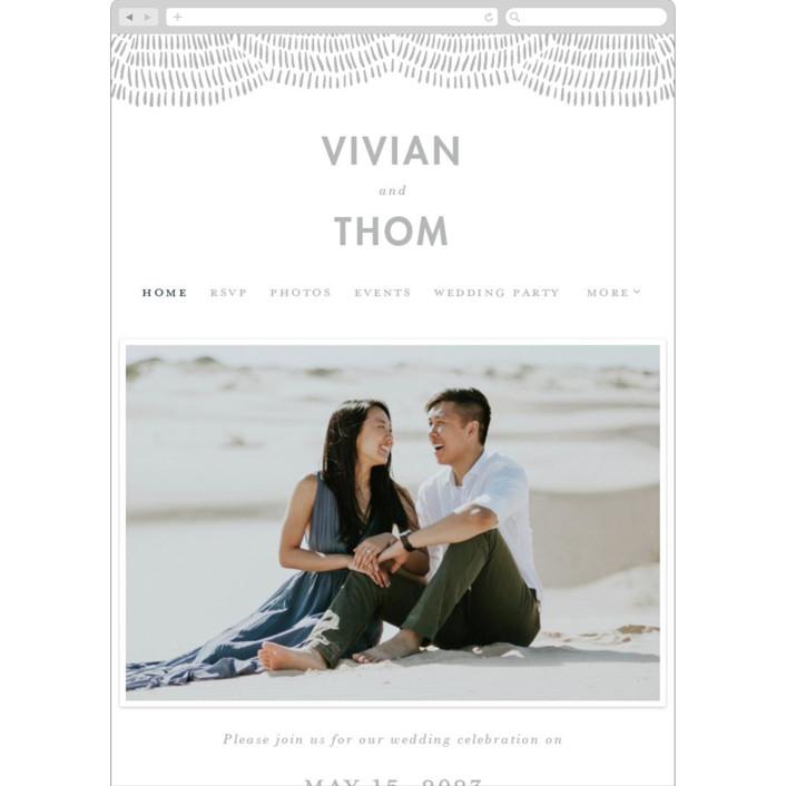 """Waverly"" - Bohemian Wedding Websites in Matte Silver by Maja Cunningham."