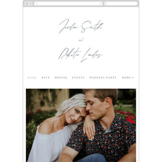 This is a blue wedding website by Everett Paper Goods called Metropolitan printing on digital paper.