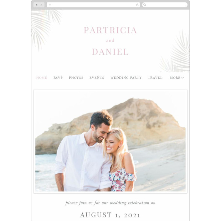 """""""Sunset by the Sea"""" - Wedding Websites in Ombre by lulu and isabelle."""