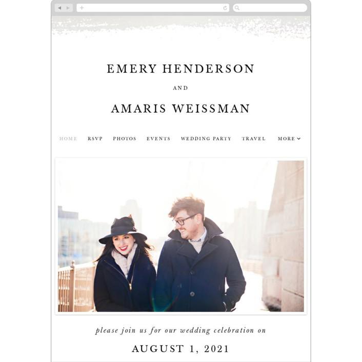 """Ensemble"" - Wedding Websites in Porcelain by carly reed walker."