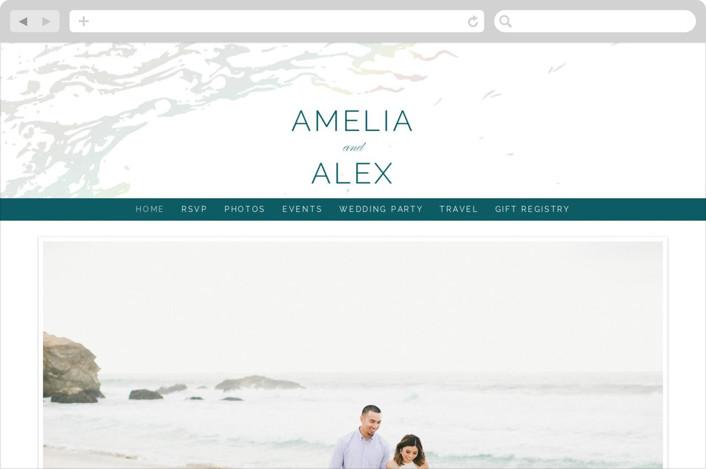 """Classic Splash"" - Wedding Websites in Teal by kbecca."