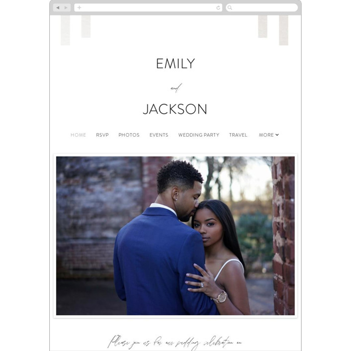 """""""City View"""" - Wedding Websites in Snow by Erika Firm."""