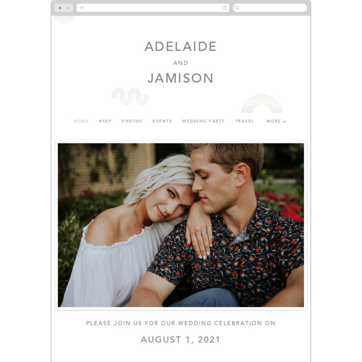 """""""Connected"""" - Wedding Websites in Snow by Kelsey Mucci."""