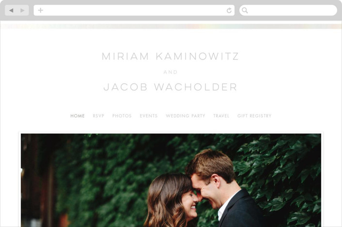 """Smash the Glass"" - Wedding Websites in Fuschia by Laura Bolter Design."