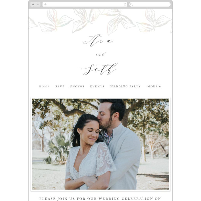 """Forevermore"" - Wedding Websites in Ivory by Melinda Denison."