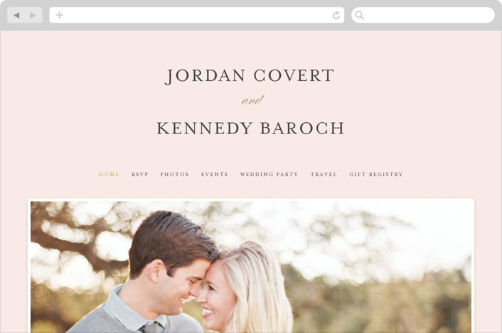 """Filigree"" - Wedding Websites in Blush by Carrie ONeal."