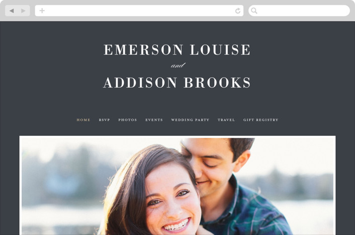 """Unconditional"" - Wedding Websites in Granite by Lauren Chism."