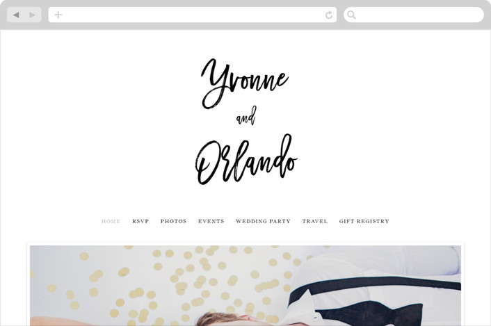 """blithe"" - Wedding Websites in Charcoal by Design Lotus."