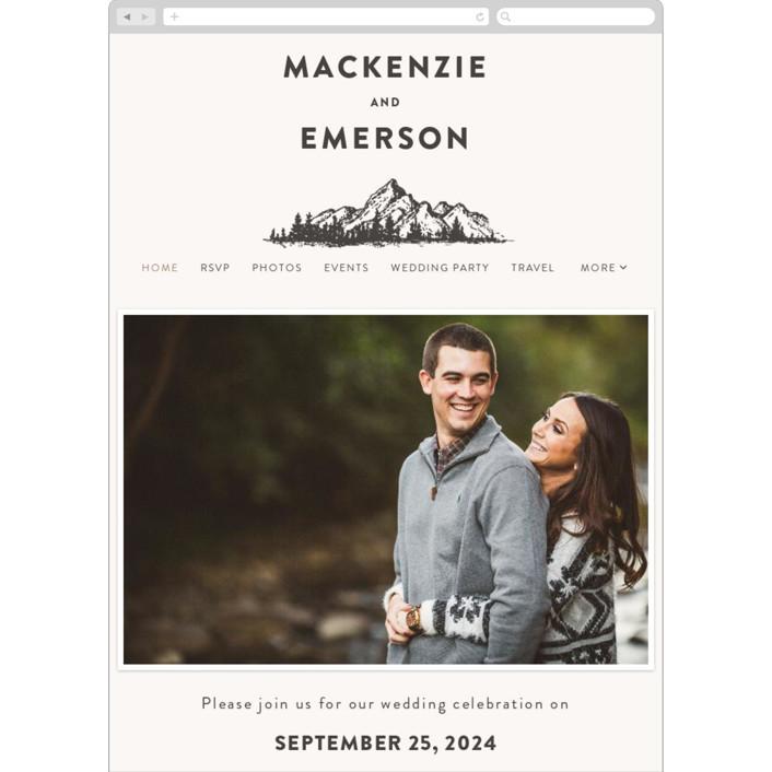 """Mountains"" - Wedding Websites in Ivory by Anastasia Makarova."
