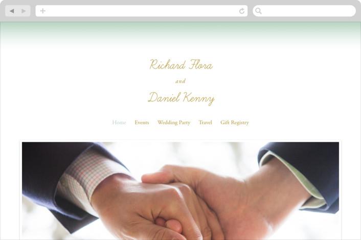 Simple Knot Wedding Websites by SimpleTe Design | Minted
