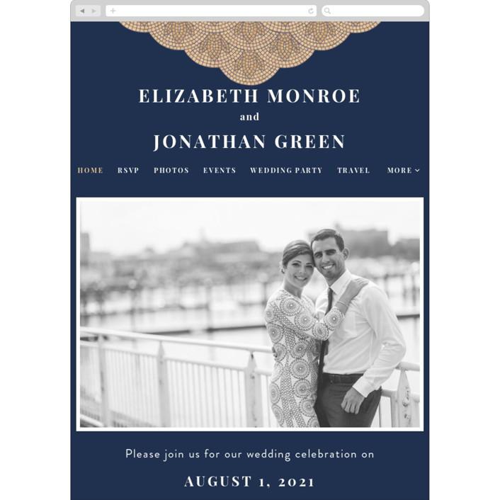 """""""Mosaic"""" - Wedding Websites in Navy by GeekInk Design."""