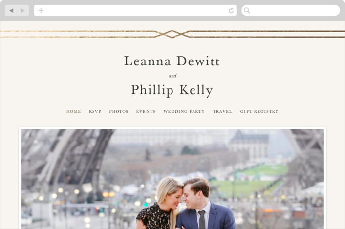 """Traditional Twist"" - Wedding Websites in Cream by Sarah Brown."