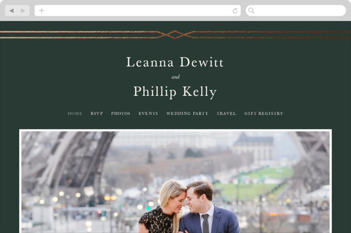 This is a green wedding website by Sarah Brown called Traditional Twist printing on digital paper.