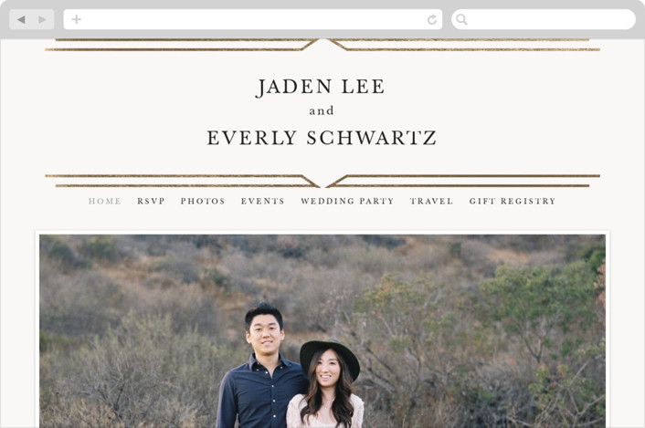 This is a white wedding website by carly reed walker called Vienna printing on digital paper.