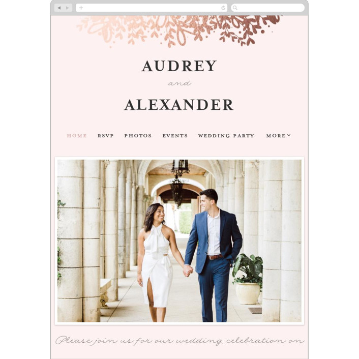 """Gem"" - Rustic Wedding Websites in Blush by lena barakat."