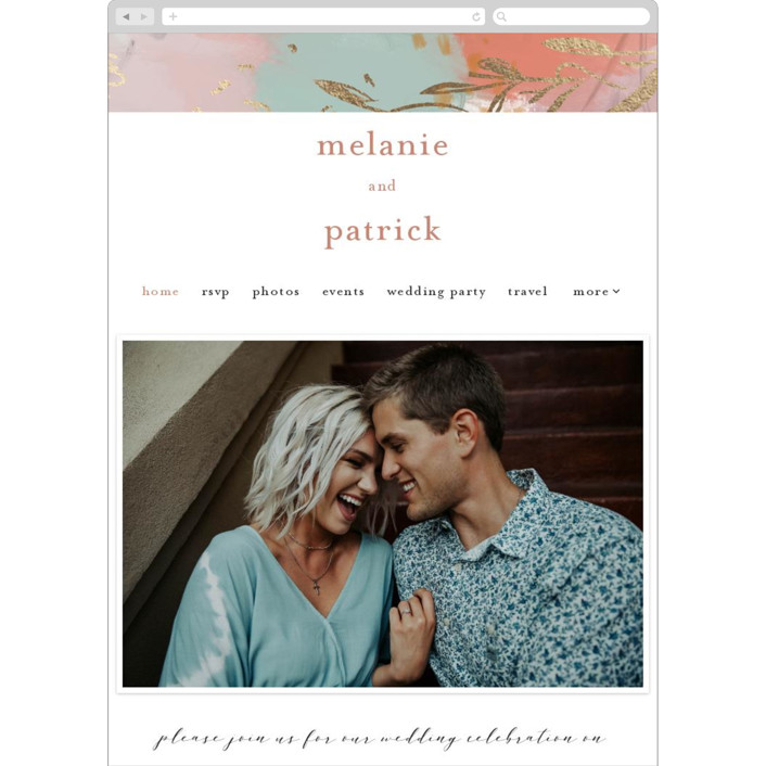 """""""Impressions"""" - Wedding Websites in Peachy by Lindsay Megahed."""