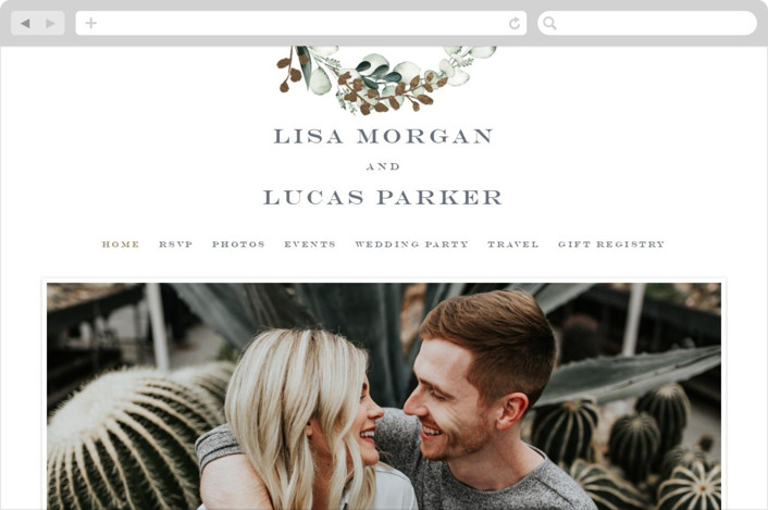 """""""gilded wreath"""" - Rustic Wedding Websites in Olive by Petra Kern."""